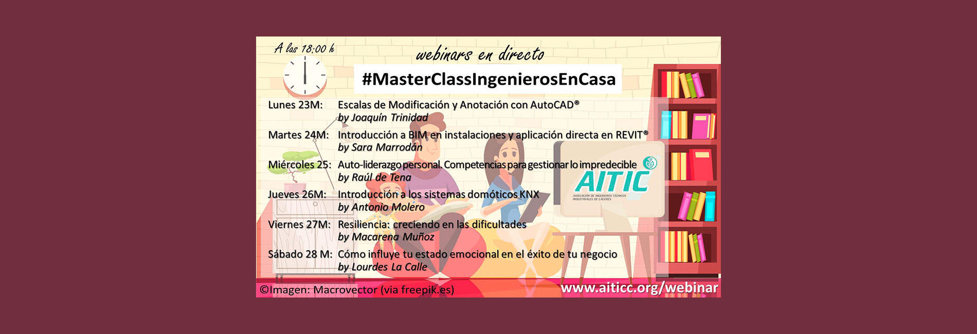 #MasterClassIngenierosEnCasa